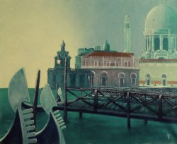 Venezia, early morning 01 - Olio su tela 90x110 - 1997.