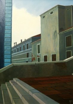 Venezia, early morning 02 - Olio su tela 50x70 - 1998.